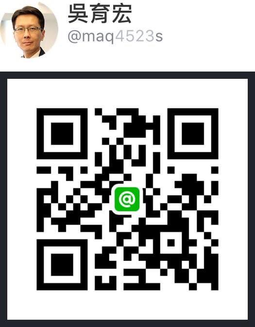 LINE@ 吳育宏 QR code